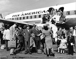 Children from Cuba arrive at the Miami airport.