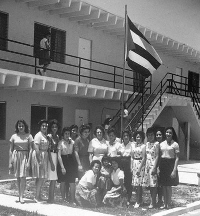 Many of the children who arrived were above the age of 12, such as this group of young women who lived at this facility in Florida City. Others were placed with foster families or attended boarding schools.