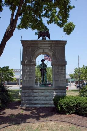 The Confederate Monument was erected in 1910 and is located near historic Forst House.