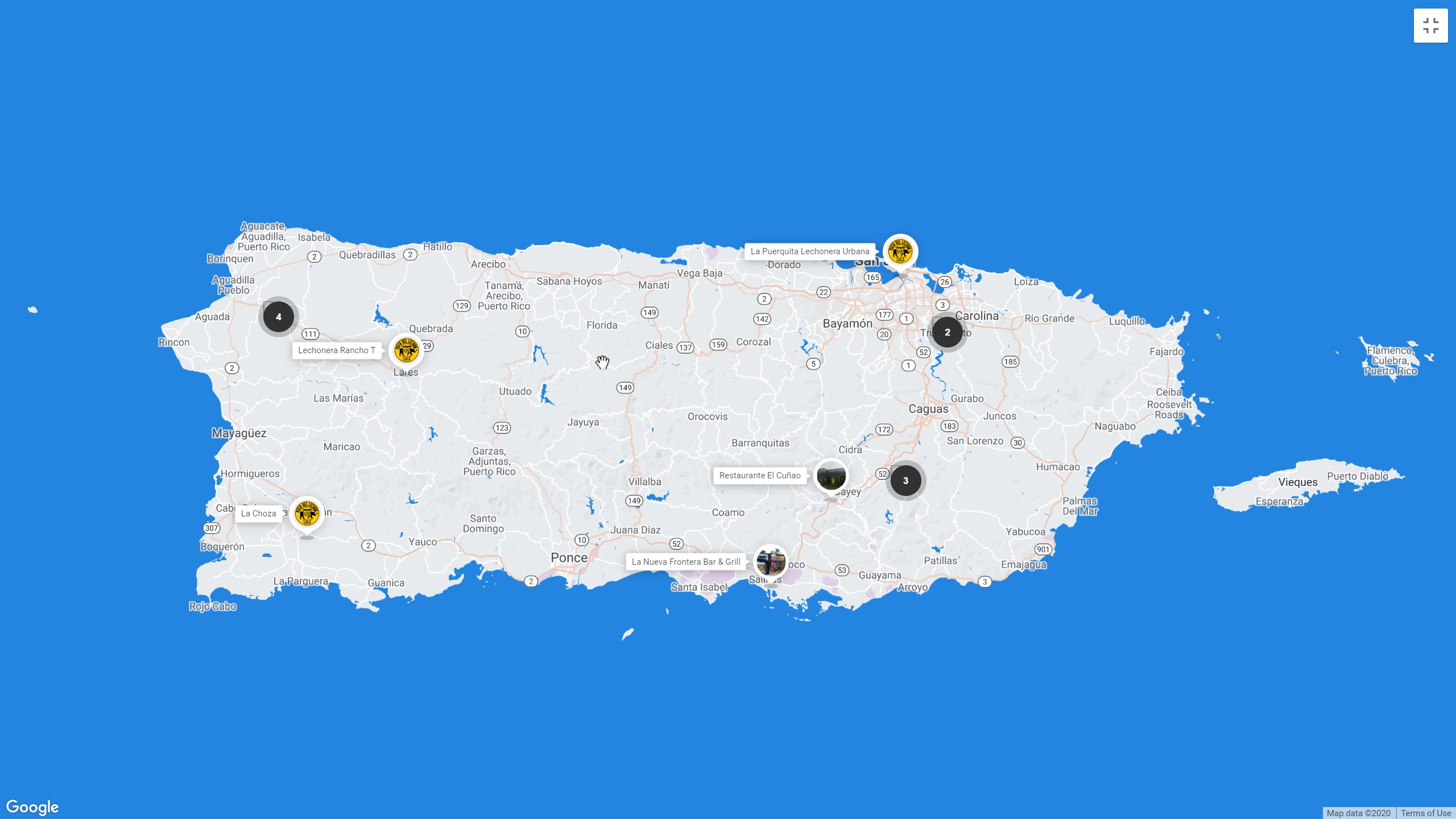 To this date, there are fourteen restaurants that are part of the National Roast Pork Route. You can search through the map by entering the link of the official route website.