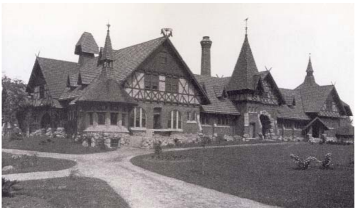 A picture of the stables in 1900.
