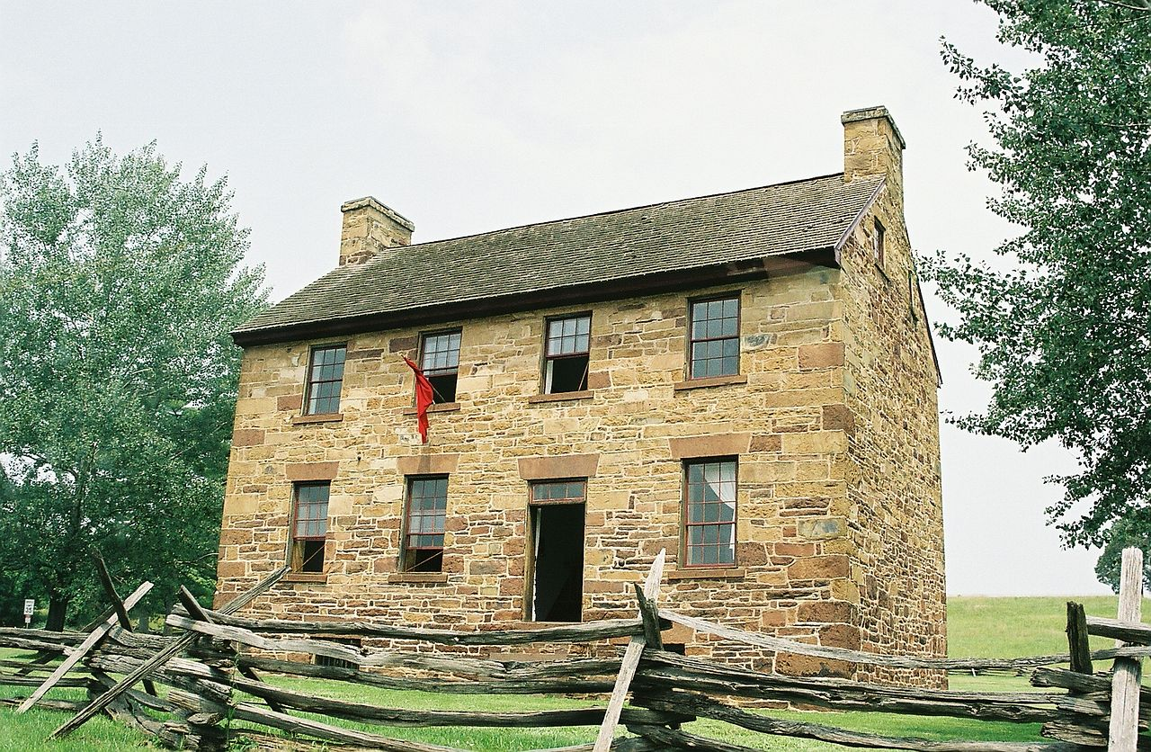 This stone house was used as a hospital during both battles