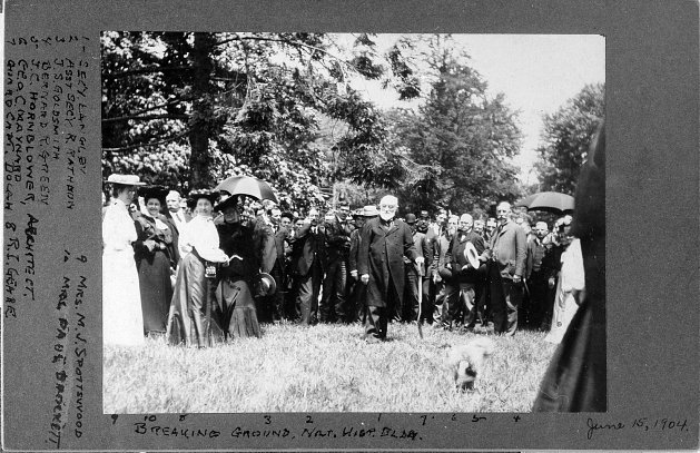 Ground is broken for the new building in 1904. Photo courtesy of Smithsonian Institution Archives.