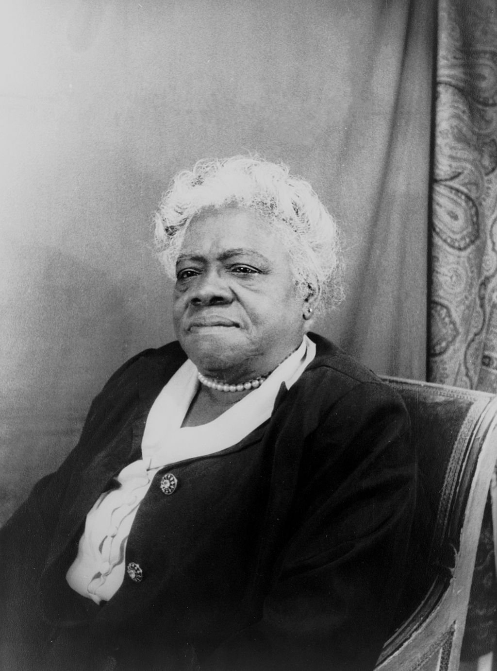Mary McLeod Bethune, the educator and activist who founded the NCNW in 1935. Photo from 1949, courtesy of the Library of Congress.