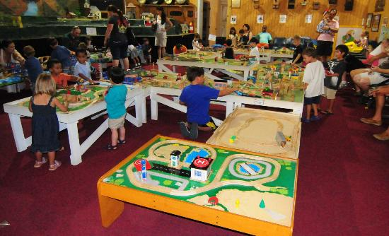 Thomas Play Tables at the Museum