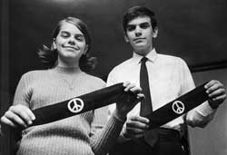 Mary Beth and John Tinker with their armbands