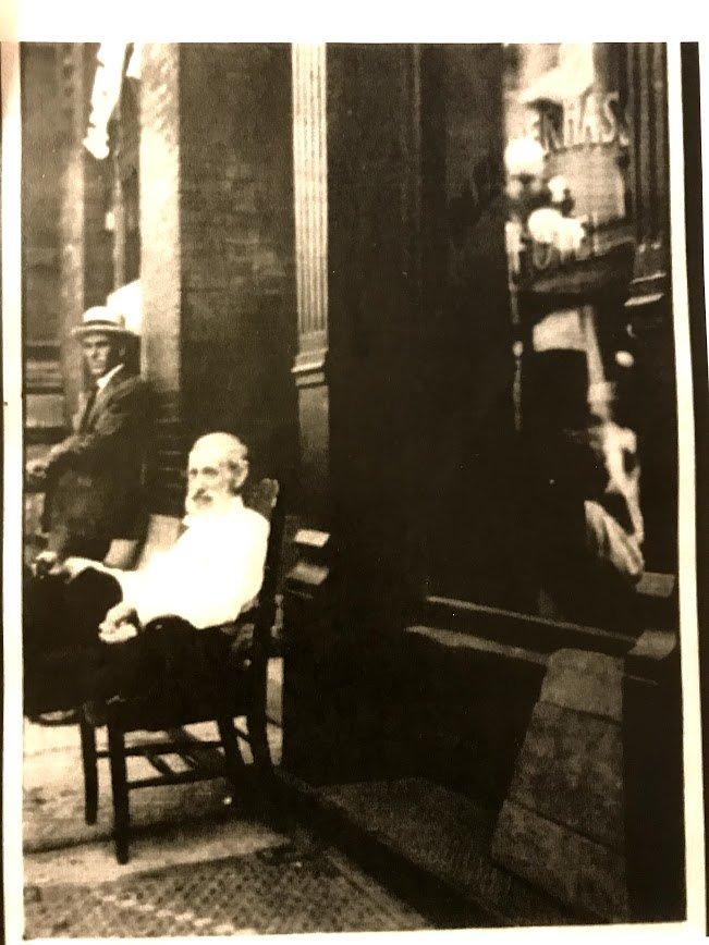 Rare Picture of William Chancellor outside the hotel