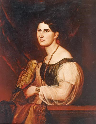 Mary Anna Custis Lee grew up at Arlington House and inherited it from her father in 1857. She and her husband, Robert E. Lee, married at the house. National Park Service.
