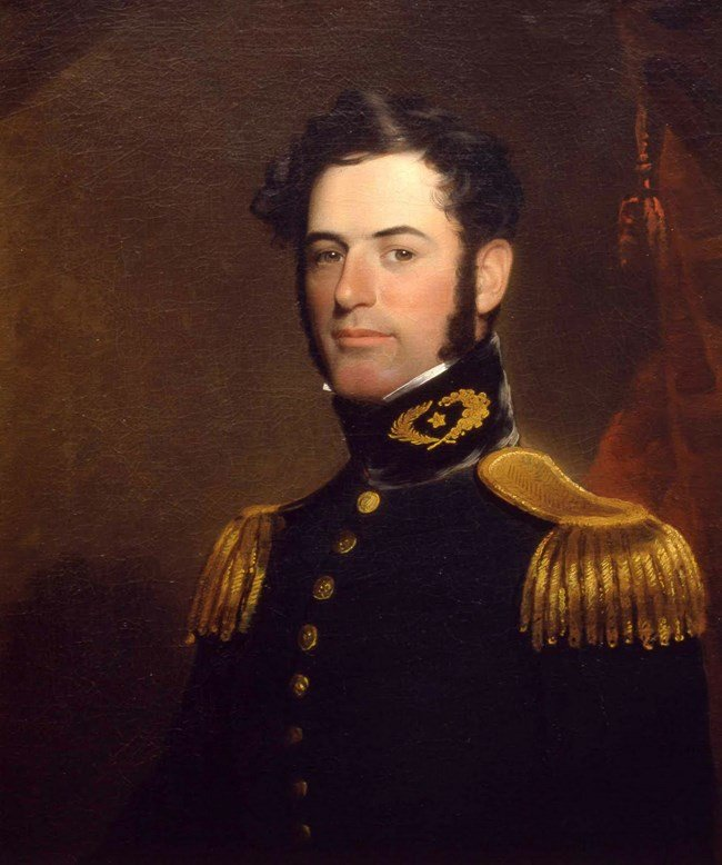Robert E. Lee lived at Arlington House with his wife, Mary Lee, and their children. He was a decorated member of the U.S. military until Virginia seceded from the Union and he joined the Confederacy. The house was dedicated to his memory in 1955. National