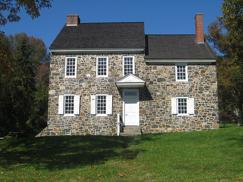 This house served as Washington's headquarters during the battle.