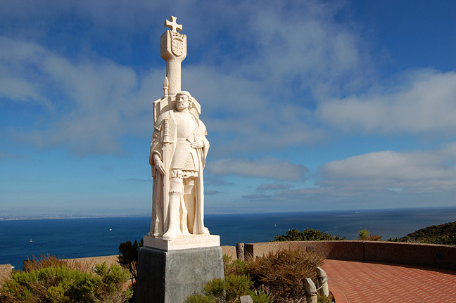 The Cabrillo National Monument commemorates Juan Rodriguez Cabrillo, a Portuguese explorer who surveyed the west coast.