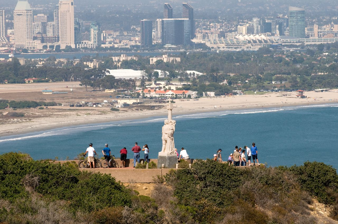 View of the monument and San Diego in the distance