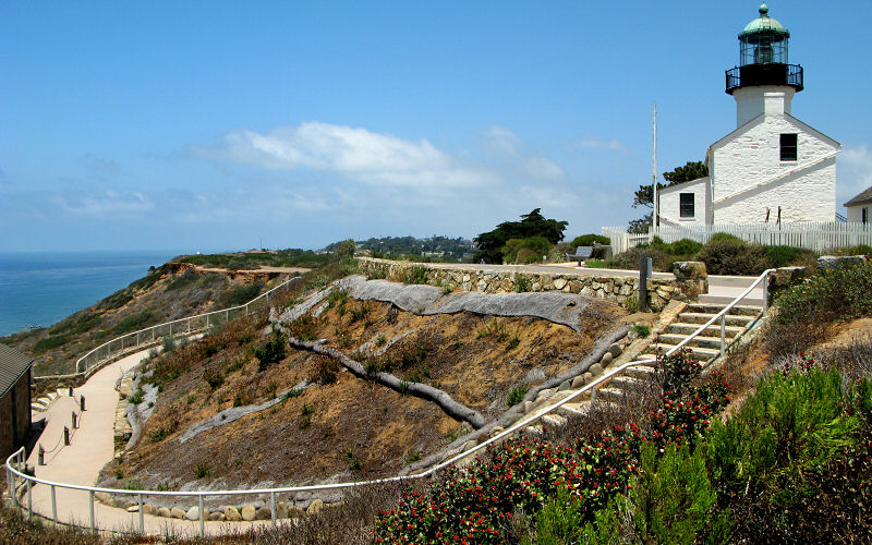 The Loma Point Lighthouse is situated on the southern end of the peninsula.