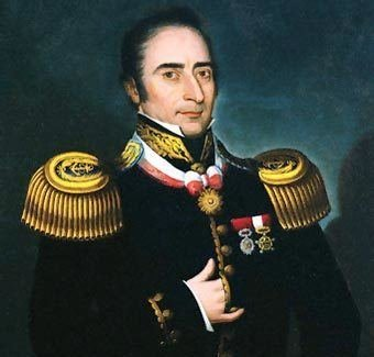 Portrait of Hippolyte Bouchard, a Frenchman who fought for Argentina during their war for independence against Spain. Given letters of marque to operate as a privateer in the Pacific, he later raided the Spanish settlement at Monterey.