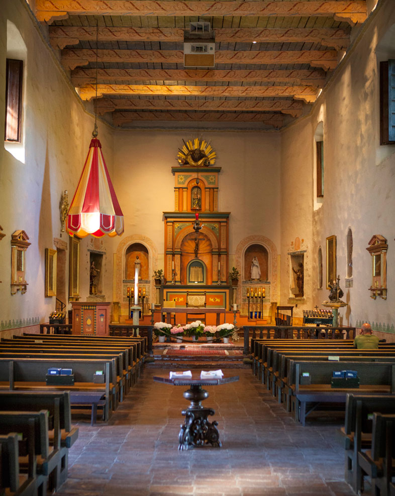 A view inside the Church.