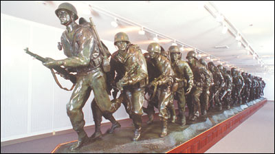 One of the featured attractions is this statue which includes soldiers from all fifty states.