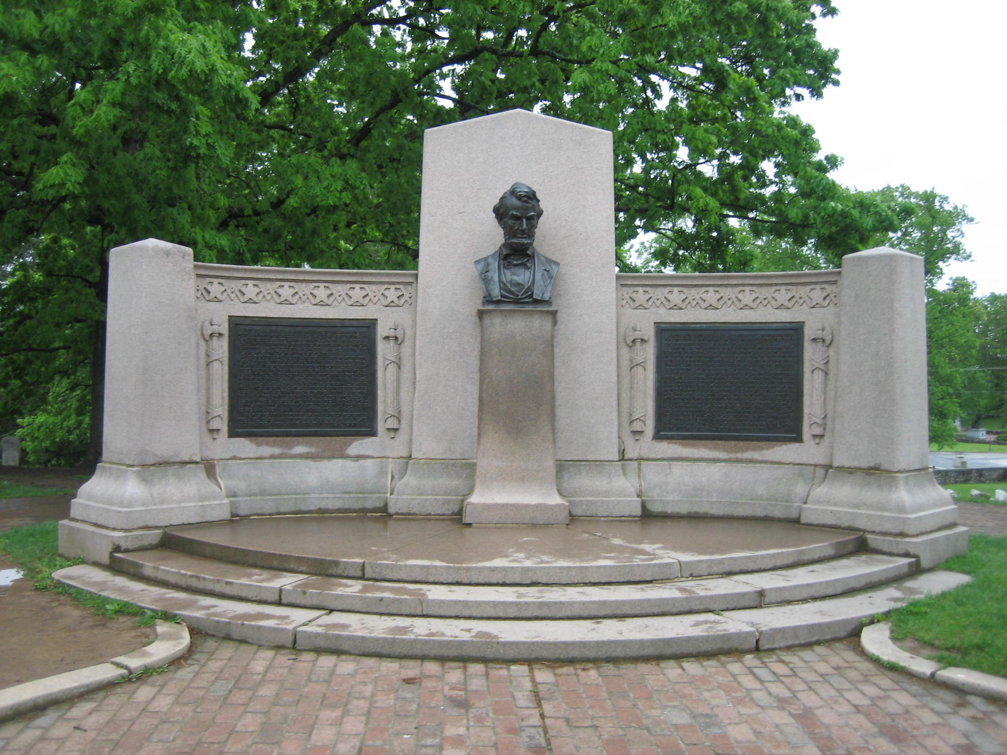 Gettysburg Address Memorial, located about 300 yards south of where Lincoln delivered the Gettysburg Address.