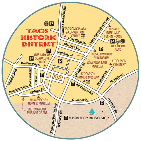 Map of the Taos Historic District
