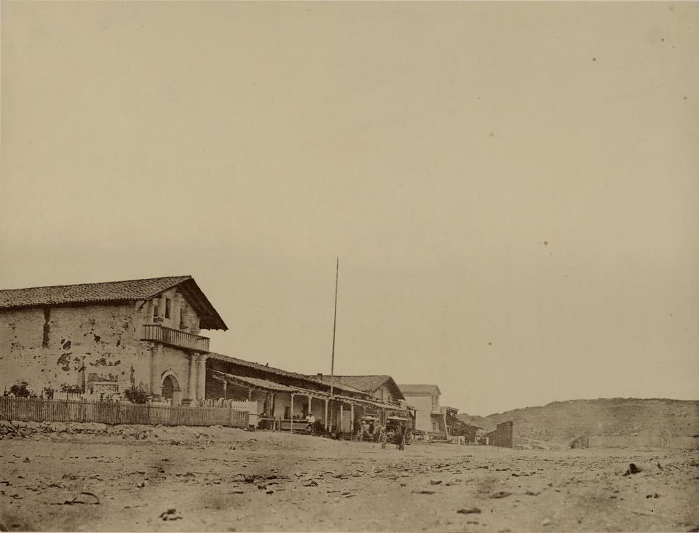 Photograph of the Mission between 1878-1883, taken by prolific California photographer Carleton E. Watkins (J. Paul Getty Collection).