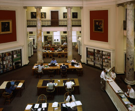 Patrons conduct research in the Society's Reading Room.