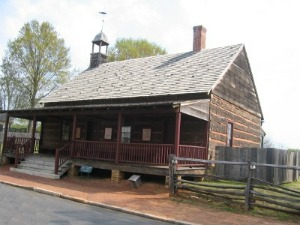 Reconstructed 1822-23 log church