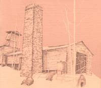 1930s drawing of 1890 engine house