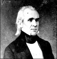 James K. Polk. Photo taken after inauguration