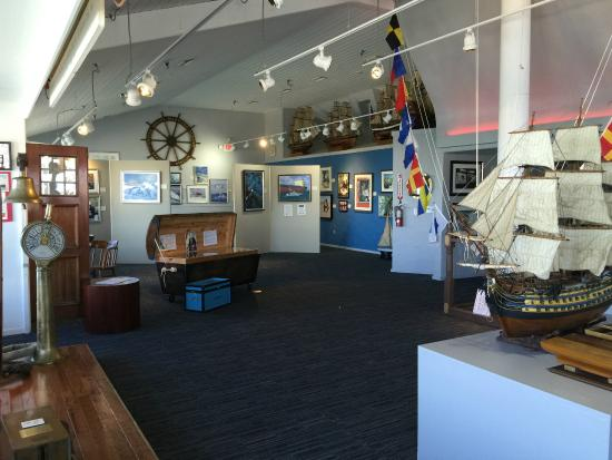 A view inside one of the exhibit rooms