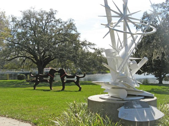The museum also has a sculpture garden on its grounds