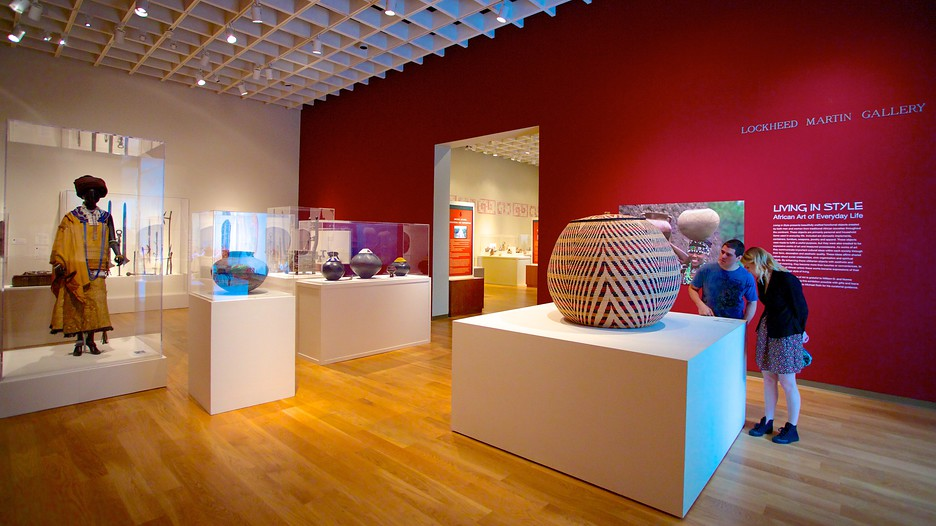A view of the African Art exhibit
