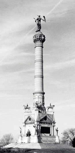Soldiers and Sailors Monument, photograph taken 1894