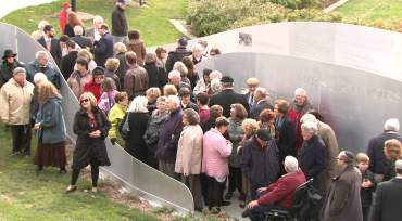 Hundreds gathering for the dedication ceremony