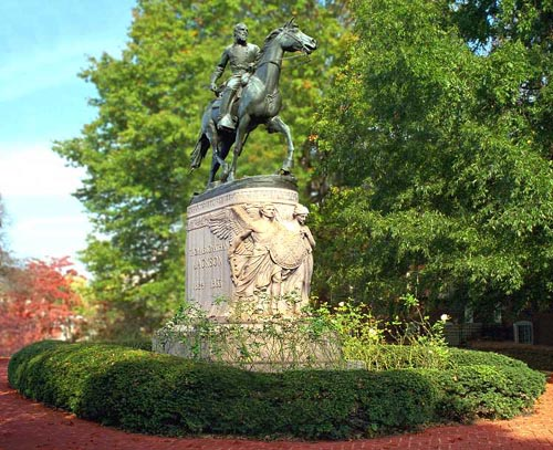 The statue was a gift from Paul McIntire in 1921 to the city of Charlottesville. Like many other Confederate monuments, the meaning of this statue has been a subject of debate that demonstrates how historical interpretations change over time.