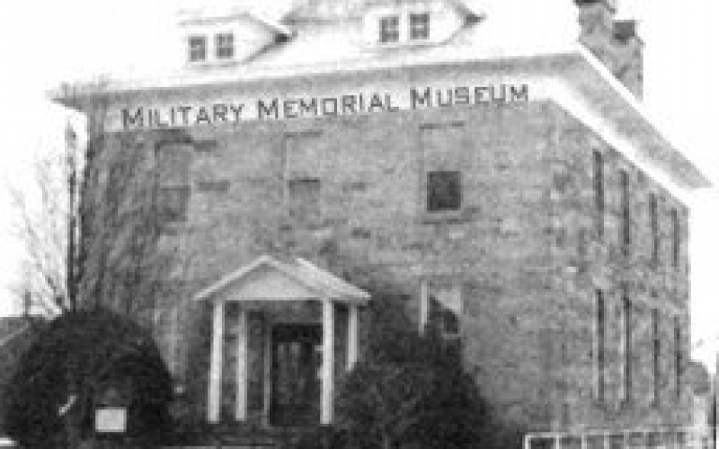 undated black & white photo of museum