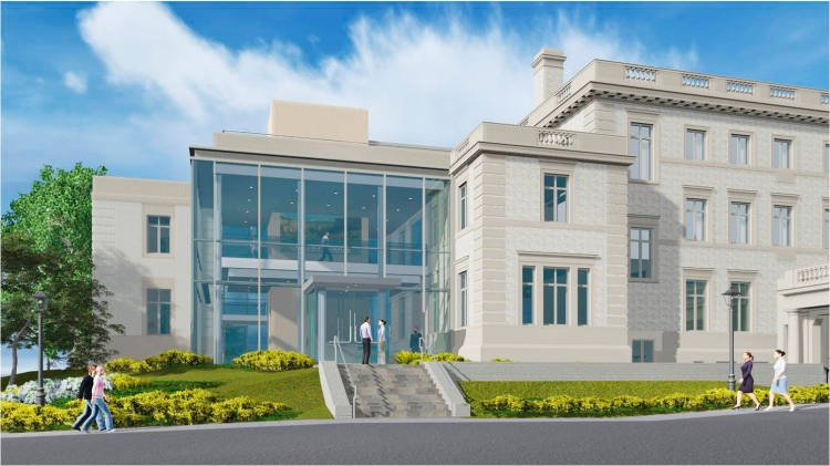 The McMullen Museum of Art opens its new space at 2101 Commonwealth Avenue in 2016. (Image courtesy of DiMella Shaffer Associates)