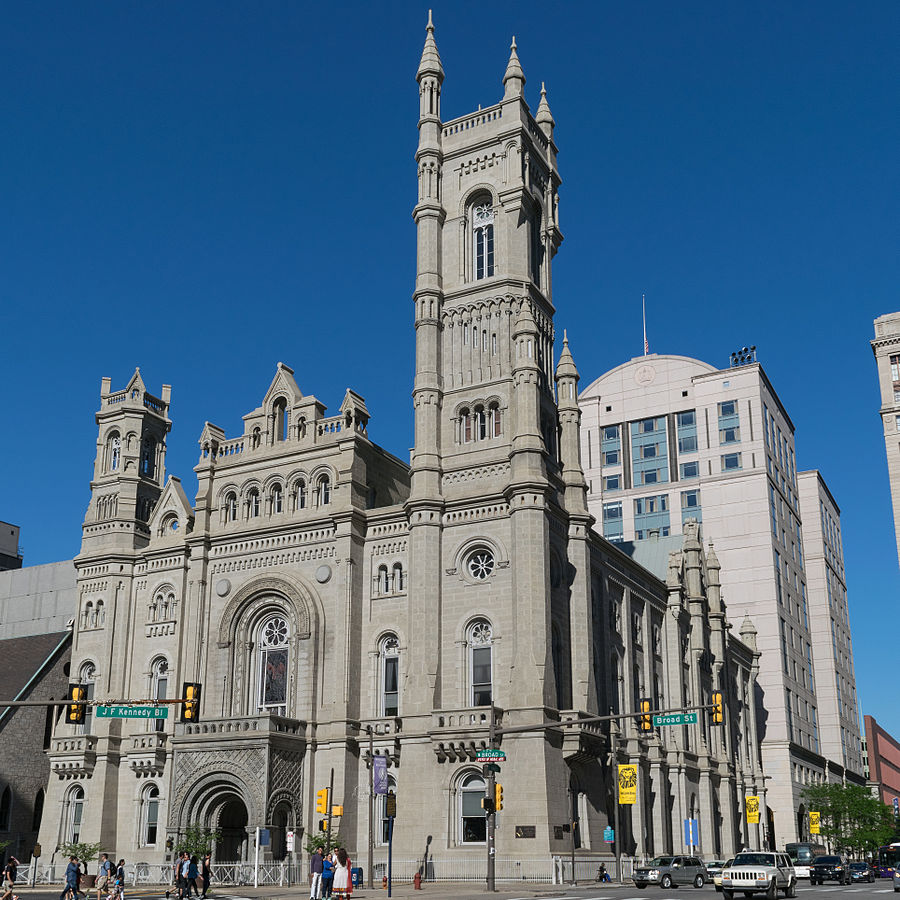 The Masonic Temple was built in 1873 and is known for its extremely ornate exterior and interior design.