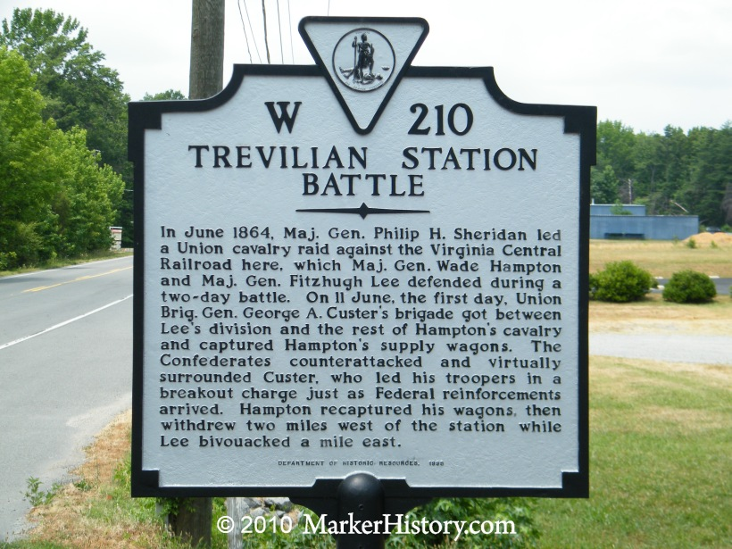 Sign commemorating the battle.