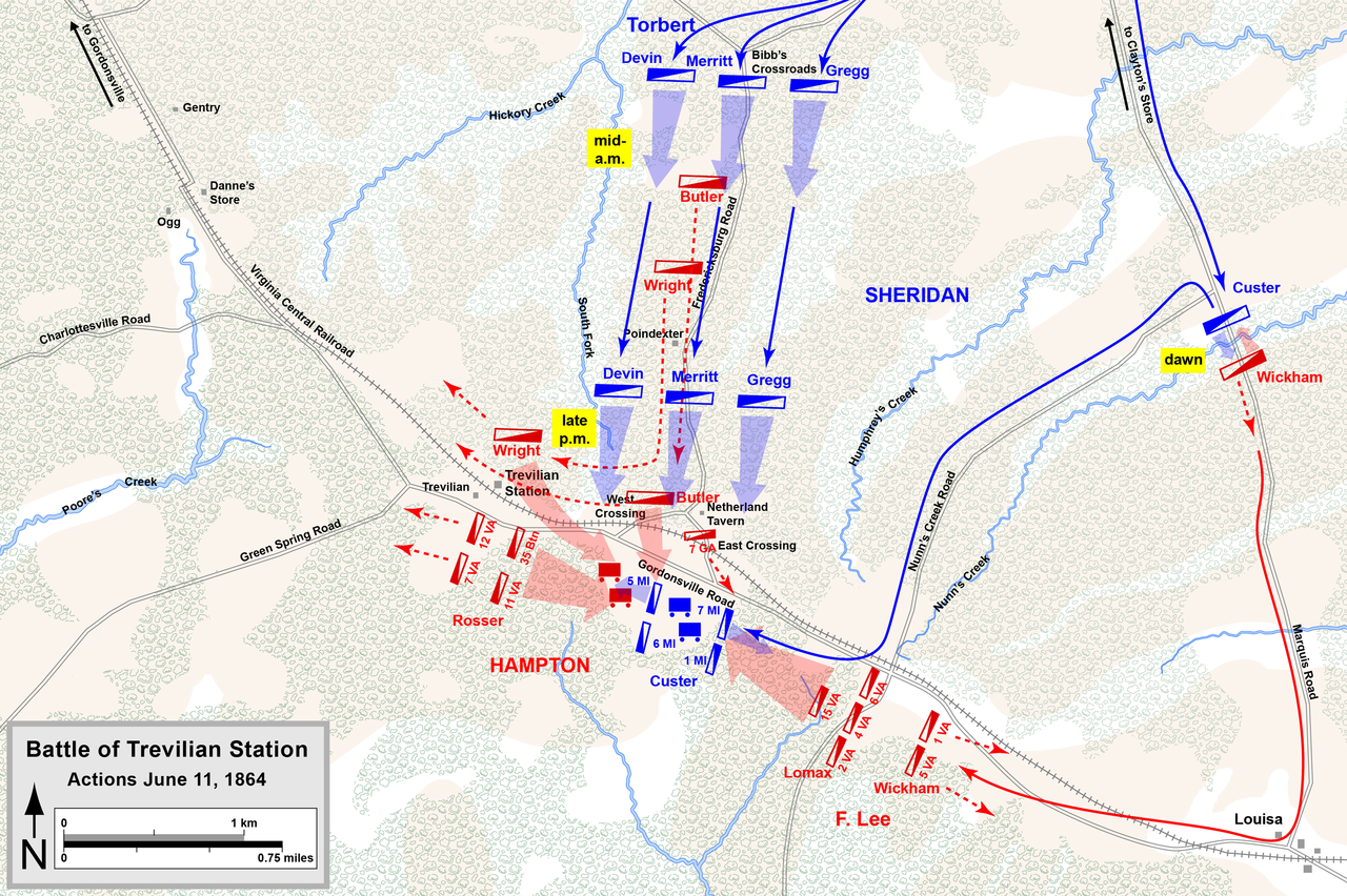 Movement during the first day of the battle