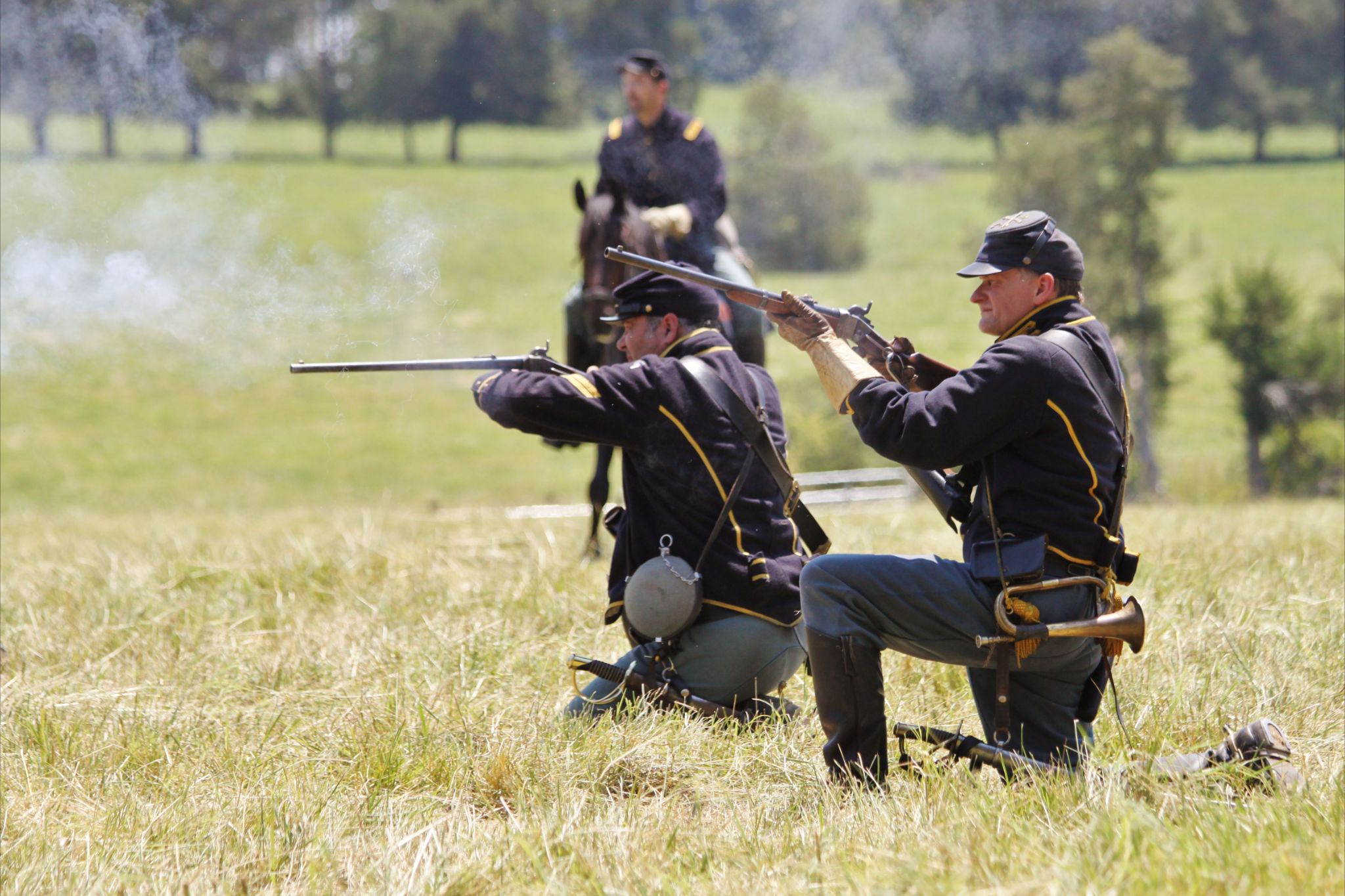 Reenactors during the 150th anniversary