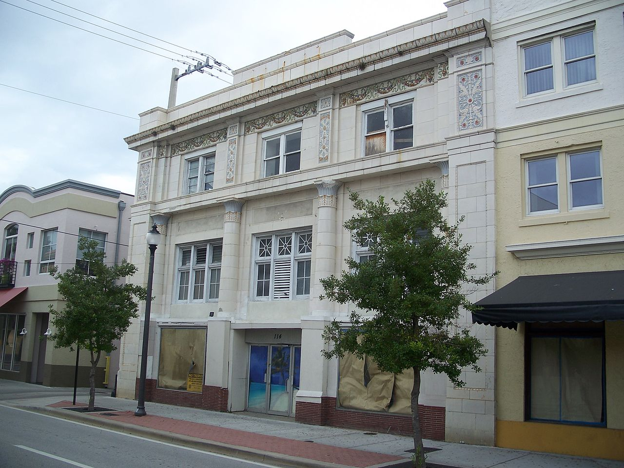 The old American National Bank Building was constructed in 1921.