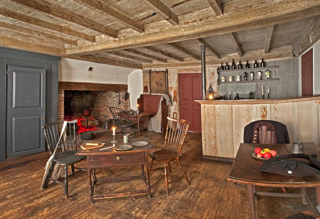 Interior of the Buckman Tavern (Courtesy of the Lexington Historical Society)