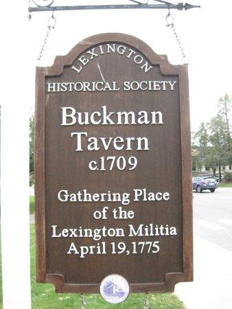 Sign outside Buckman Tavern (Courtesy of TripAdvisor)