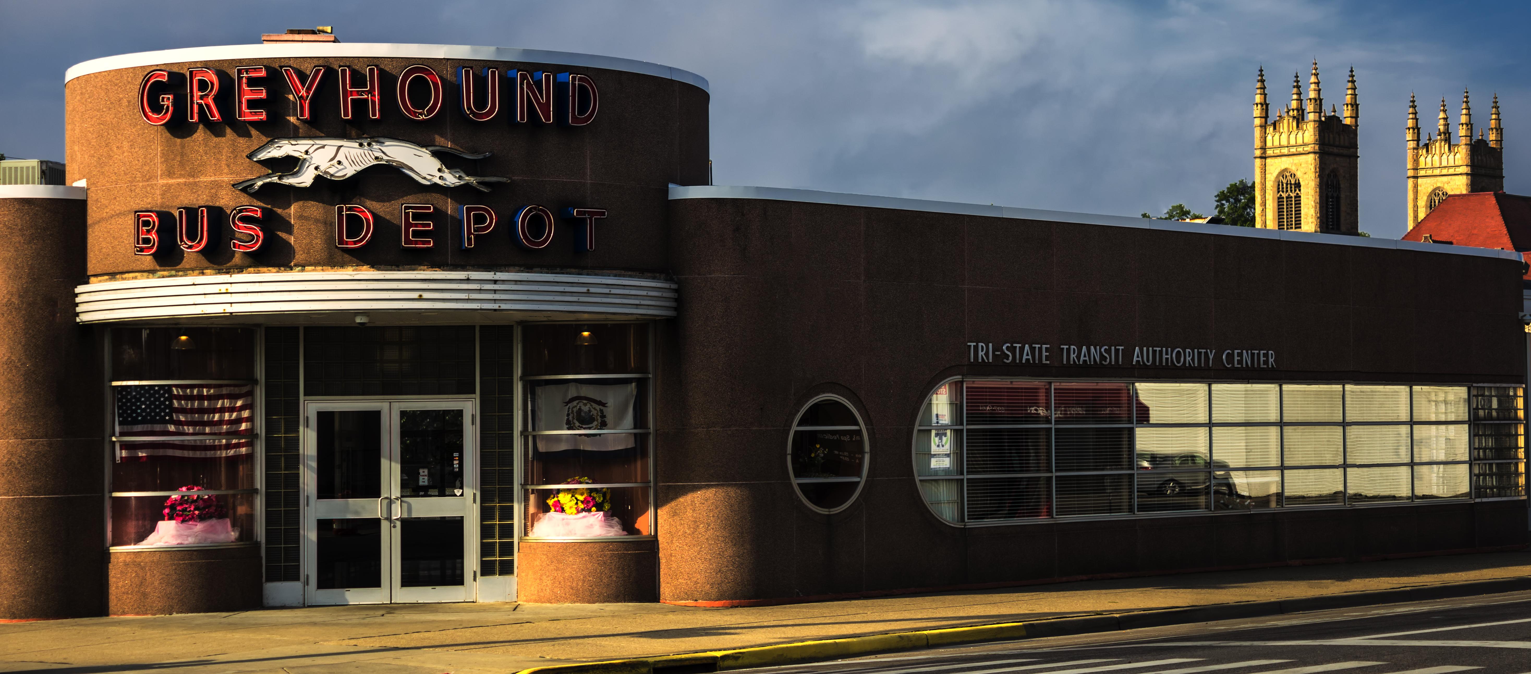 Greyhound Station, Huntington, WV.
