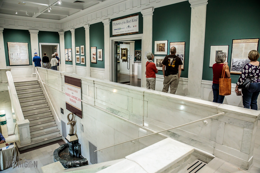 Visitors Viewing a Special Exhibit