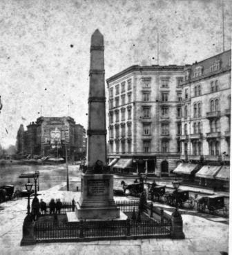 An early photograph of the monument