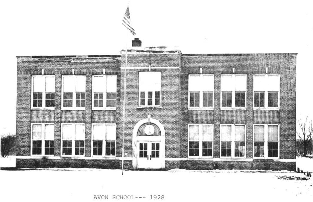 Avon School, east elevation, 1928