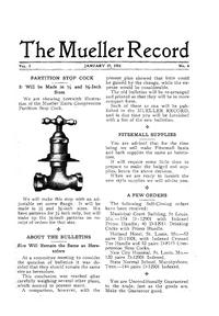 The museum includes a library of the Mueller Record-a publication that described the company's various products.