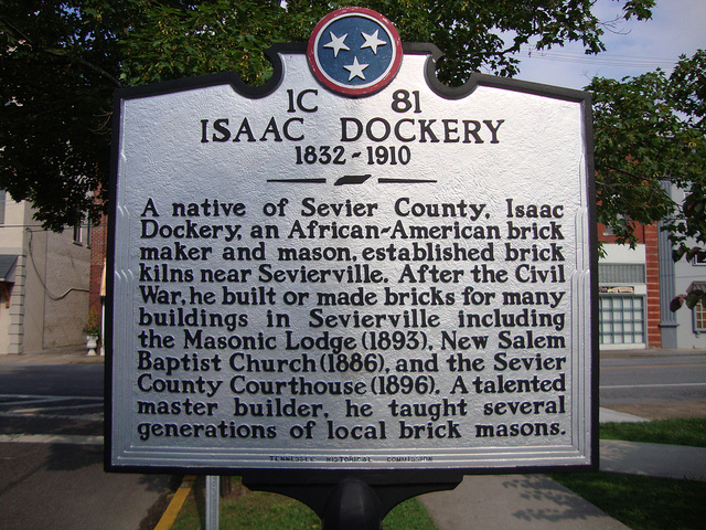 Marker to Isaac Dockery on church grounds.