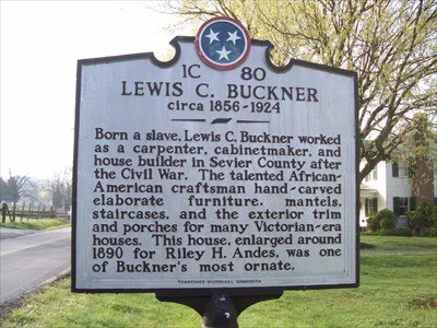 Marker to Lewis Dockery in front of Riley H. Andes Home north of Sevierville