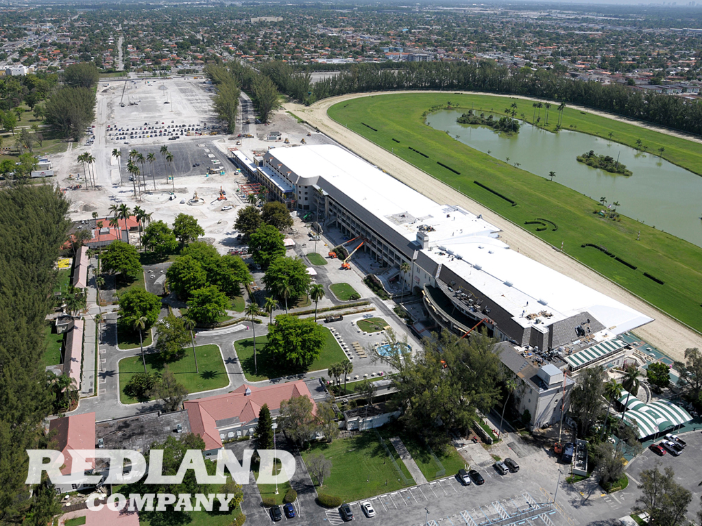 Overhead shot of the complex as it undergoes renovations.